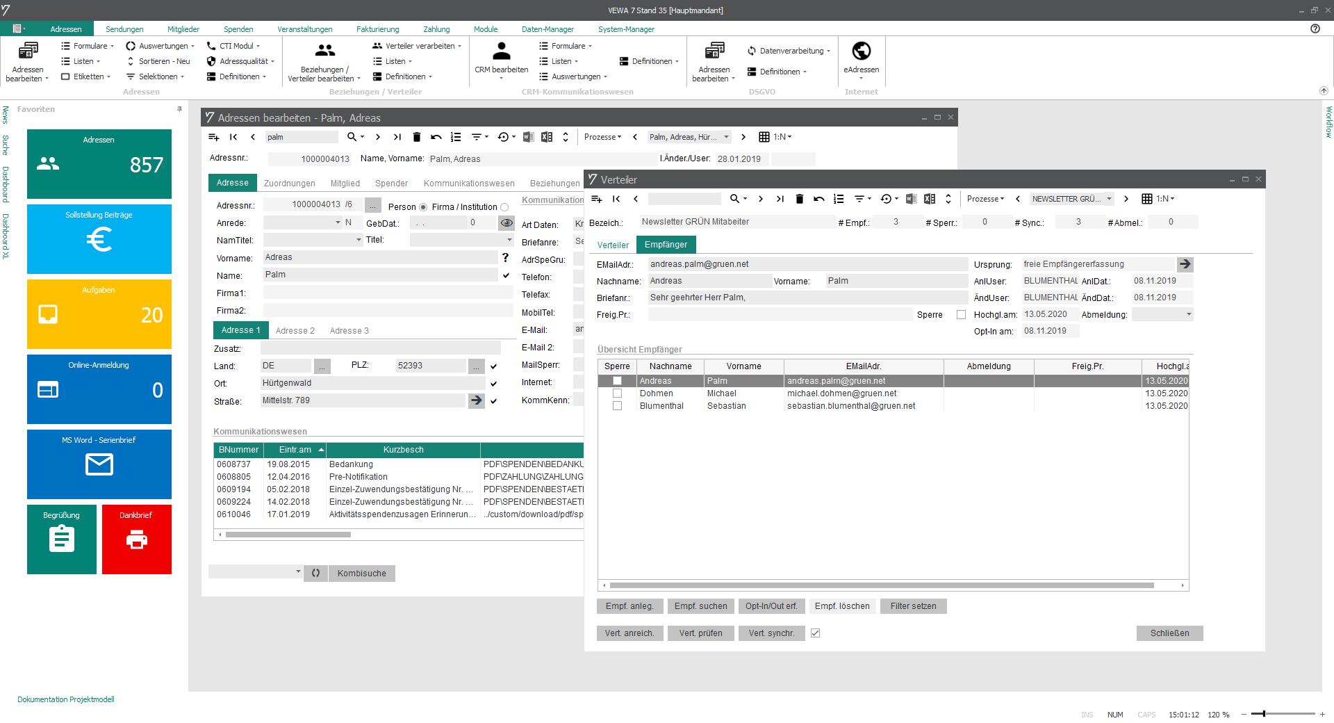 Newsletterversand über externe Newsletter-Tools